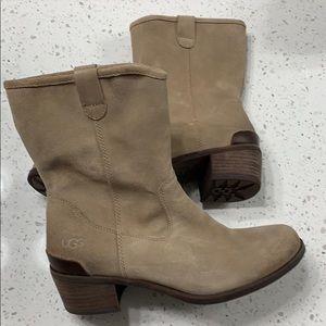 "Short Suede ""Cowboy Boots"""